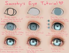 Nice way to draw creepy doll eyes.Heyyy, I made a tutorial, because so many asked me how I draw that glowing eyes all the time!Eye Tutorial: These eyes might be cute on repainted on Bratz dolls.Eye Tutorial by =Saccstry o Eye Tutorial, Doll Tutorial, Doll Repaint Tutorial, Digital Painting Tutorials, Art Tutorials, Drawing Tutorials, Ooak Dolls, Art Dolls, Realistic Eye Drawing