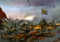 Execution of 400000 soldiers from the Kingdom of Zhao by the victorious Qin Army at the Battle of Chang-Ping Warring States Period Ancient China Islamic Posters, Islamic Art, Karbala Pictures, Battle Of Karbala, Imam Hussain Wallpapers, A Dance With Dragons, Karbala Photography, Historical Art, Historical Pictures