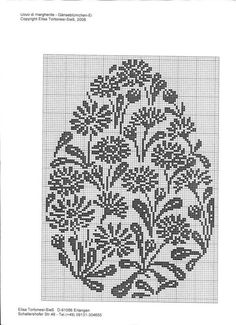 ru / Gänseblümchen-Ei - *E*l*i*s*a *T*o*r*t*o*n*e*s*i* - cirokko Blackwork Cross Stitch, Cross Stitch Charts, Cross Stitching, Cross Stitch Embroidery, Embroidery Patterns, Cross Stitch Patterns, Easter Cross, Easter Crochet, Knitting Charts