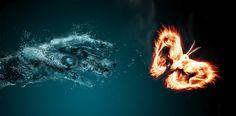 Fire and water wallpaper Wallpaper Wide HD