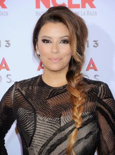 Pin for Later: The Side Plait Is the Perfect Bad Hair Day Remedy Eva Longoria Eva's loose plait played with the ombré colour in her hair. Best Wedding Hairstyles, Celebrity Hairstyles, Side Plait Hairstyles, Bad Hair Day, Hair Pictures, Hair Trends, Her Hair, Hair Inspiration, Wedding Inspiration