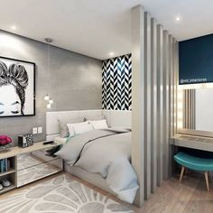"""Acquire fantastic tips on """"bedroom ideas master"""". They are actually readily available for you on our web site. Single Bedroom, Small Room Bedroom, Home Decor Bedroom, Modern Bedroom, Bedroom Ideas, Kids Bedroom, Master Bedroom, Dream Rooms, Dream Bedroom"""