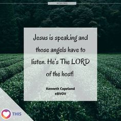 "6 Likes, 1 Comments - Kenneth Copeland Ministries (@copelandnetwork) on Instagram: ""The angels obey the Word of God! #OneWordFromGod #BVOV"""