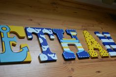 Nautical theme letters, by one talented lady!