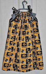 Iowa Hawkeyes Dress my daughter would love this for football season :)