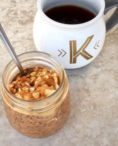 PB Mocha Overnight Oats - The perfect breakfast to keep you full, focused, and (most importantly) caffeinated all morning long!