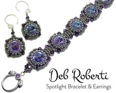 Spotlight Bracelet & Earrings beaded pattern tutorial by Deb Roberti Beaded Jewelry, Handmade Jewelry, Beaded Bracelets, Beading Tutorials, Beading Patterns, Beading Projects, Beads And Wire, Making Ideas, Jewelry Design