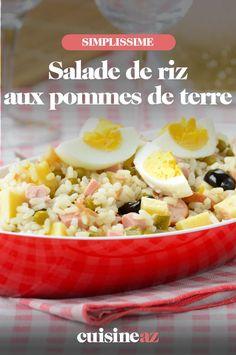 Avec cette recette, vous obtiendrez une salade de riz aux pommes de terre parfaite pour être emportée en pique-nique ou au bureau. #recette#cuisine #salade #riz #pommedeterre Potato Salad, Potatoes, Ethnic Recipes, Food, Pasta Salad, Chopped Salads, Dish, Desk, Potato