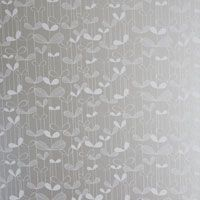 Interior Decorating, Wallpapers, Saplings, Hand Printed Wallpaper, Silver/White, From EcoCentric