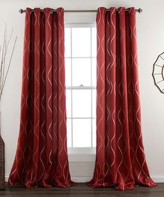 Another great find on #zulily! Red Pearl Curtain Panel - Set of Two #zulilyfinds