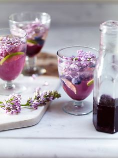 Floral and herbal recipes Lilac flower sodas | H&G Living Beautifully
