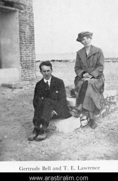Adventurers Gertrude Bell and T.E. Lawrence. Lawrence of Arabia was about Lawrence, but it was Bell that was his sensei.