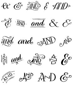 "myfonts: "" Do you like ampersands? How about a free set of hand-drawn ampersands and ornaments? Free font: Bookeyed Sadie Ampersands on MyFonts "" Calligraphy Letters, Typography Letters, Typography Design, How To Do Calligraphy, Font Alphabet, Pretty Fonts Alphabet, Ampersand Font, Tattoo Alphabet, Doodle Alphabet"