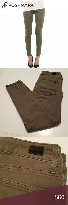 Paige Verdugo ankle in camo green 27 Worn few times in excellent condition!  Size 27  Beautiful color ! Camo green Paige Jeans Pants Skinny