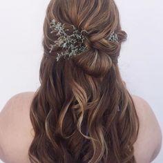 Boho Wedding Hair Daily Hairstyles, Wedding Hairstyles, Boho Wedding Hair, Boho Bride, Long Hair Styles, Bridal, Beauty, Instagram, Future