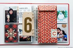 I've been working on my December Daily at a pretty steady pace every couple of nights, and I'm really happy with how it is progressing. Christmas Mini Albums, Christmas Mix, Christmas Journal, Christmas Books, All Things Christmas, Christmas Crafts, Christmas Scrapbook Layouts, Mini Scrapbook Albums, December Daily