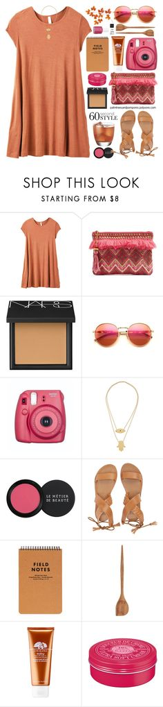 """60-Second Style: The T-Shirt Dress"" by palmtreesandpompoms ❤ liked on Polyvore featuring RVCA, Steven by Steve Madden, NARS Cosmetics, Wildfox, Fujifilm, N°21, Jennifer Zeuner, Le Métier de Beauté, Billabong and Nicolas Vahé"