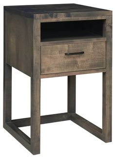 Amish Richmond Nightstand The Richmond goes contemporary with long clean lines. Built in Amish country in choice of wood and stain.