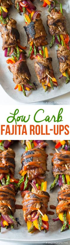 Zesty Low Carb Steak Fajita Roll-Ups #healthy via @spicyperspectiv
