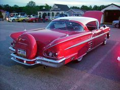 1958 Chevy Impala with continental kit