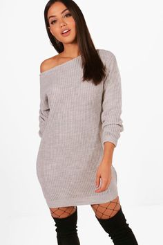 f8a554a5317 Click here to find out about the Slash Neck Fisherman Jumper Dress from  Boohoo