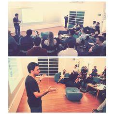 #Plugnlearn com #HugoBernardo da #Eventbrite foi um sucesso! O tema foi #Growth #Hacks Quer participar dos proximos encontros? Mande um e-mail para contato@plug.ae