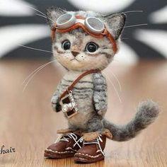 Ayukawa Tammy sur-Filztiere- # Tammy- # Ayukawa-l . Baby Animals Super Cute, Cute Baby Cats, Cute Stuffed Animals, Cute Little Animals, Cute Funny Animals, Baby Animals Pictures, Cute Animal Pictures, Cute Animal Drawings, Cute Drawings
