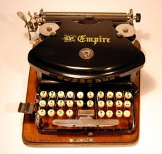 Beautiful Old-Time Typewriters