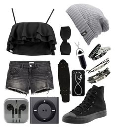 """Untitled #180"" by lexaguilbert on Polyvore featuring H&M, Boohoo, Calvin Klein Underwear, The North Face, Converse, Apple, Casetify and Hot Topic"