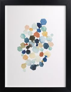 Click to see 'Hexagon Cluster' on Minted.com