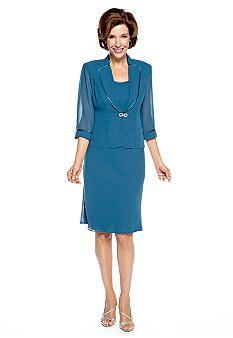 Dana Kay Three-Quarter Sleeved Jacket Dress