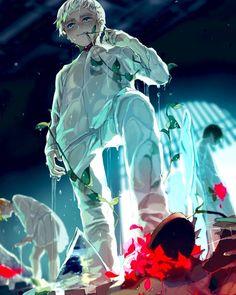 norman fanart - the promised neverland Otaku Anime, Art Anime, Anime Guys, Fanart Manga, Dark And Twisted, Another Anime, Anime Kawaii, Animes Wallpapers, Totoro