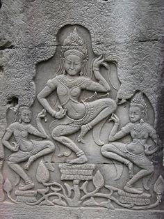 Apsaras of the Bayon Ruin in Cambodia
