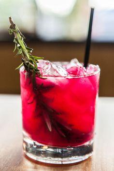 Smoking Rosemary - Ilegal Mezcal, prickly pear nectar, shaken and served with a freshly cut rosemary sprig - Bamboo Izakaya Santa Monica