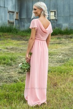 b48999b7c1 Mallory Short Sleeve Bridesmaid Dress In Blush
