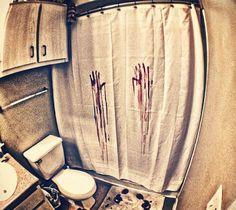 blood bath curtain