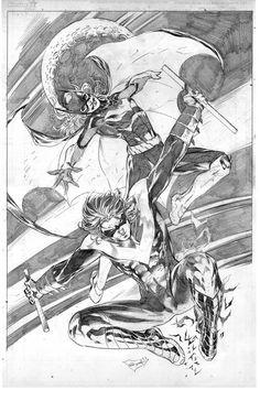 Batgirl and Nightwing by ardian-syaf on DeviantArt I Am Batman, Batman Art, Batman Robin, Gotham Batman, Dc Comics Art, Batman Comics, Comics Girls, Nightwing And Starfire, Batman Family