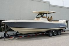 Options Include: Fountain Blue Metallic Painted Hull, Twin Mercury 350 Verados, Active Trim, Mercury Joystick Piloting, Pearl Fusion Painted Outboards, Heritage Trim Edition, Pilot House (Hard top, LED Lighting, Speakers & Sunshade), Helm Seat w/ Live Well, Bow Docking Lights, Fender Clips (6), Woven Seagrass Flooring, Forward Table Package, Garmin 7616xsv Electronics Package, Sirius Satellite Radio, Windlass Anchor. Boat Sales, Chris Craft, Boats For Sale, Wisconsin, Baby Strollers, Crafts, Baby Prams, Manualidades, Strollers
