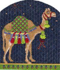 Nativity needlepoint camel by Kelly Clark