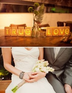 "I love the ""True Love"" votives. #yellow #decorations"