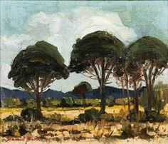 David Botha 'Trees in a Landscape', 1973 South African Artists, Fine Art Gallery, Landscapes, Trees, David, Passion, Painting, Paisajes, Scenery