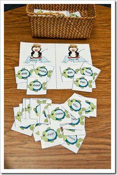 Penguin diagraphs, cookie jar blends - free printables