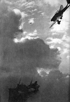 """At the start of Hitler's """"invasion of Britain"""" Goering started by  bombing all shipping in the English Channel. To sweep the sea clear of the Royal Navy. So his landing barges would have a clear passage."""