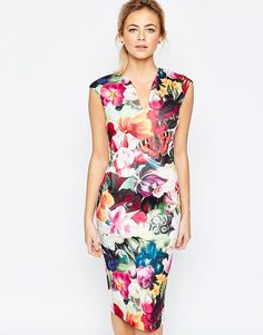 3177e2988048d2 Image 1 of Ted Baker Floral Swirl Print Dress Ted Baker Dress