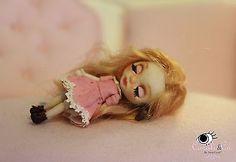 Ooak Miniature Blythe Inspired Doll #3 By Nina Corali
