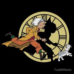 Back to the Future feat. Tintin.