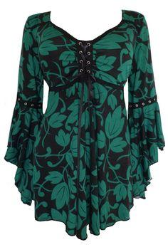 Dare To Wear Victorian Gothic Women's Plus Size Ophelia Corset Top Ivy Dare… Gothic Fashion, Look Fashion, Womens Fashion, Vintage Mode, Retro Vintage, Lace Corset, Gothic Outfits, Plus Size Outfits, Plus Size Fashion