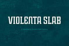 Violenta Slab Font Family by Graviton Font Foundry on @creativework247