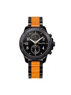 Thomas Sabo Steel Orange Plastic Black Watch WA0130-240-203-38 MM
