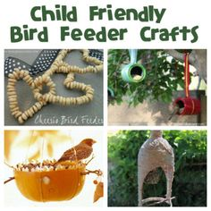 February as National Bird Feeding Month - Get your kids together and make your own homemade bird feeder crafts with these great ideas!